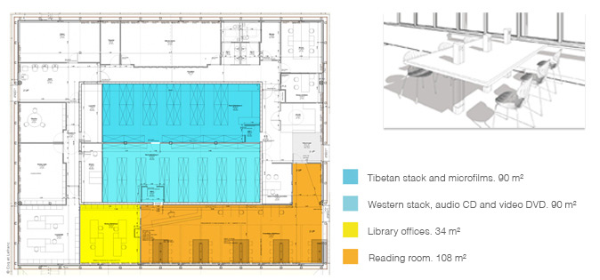 Plan for the library, garden level
